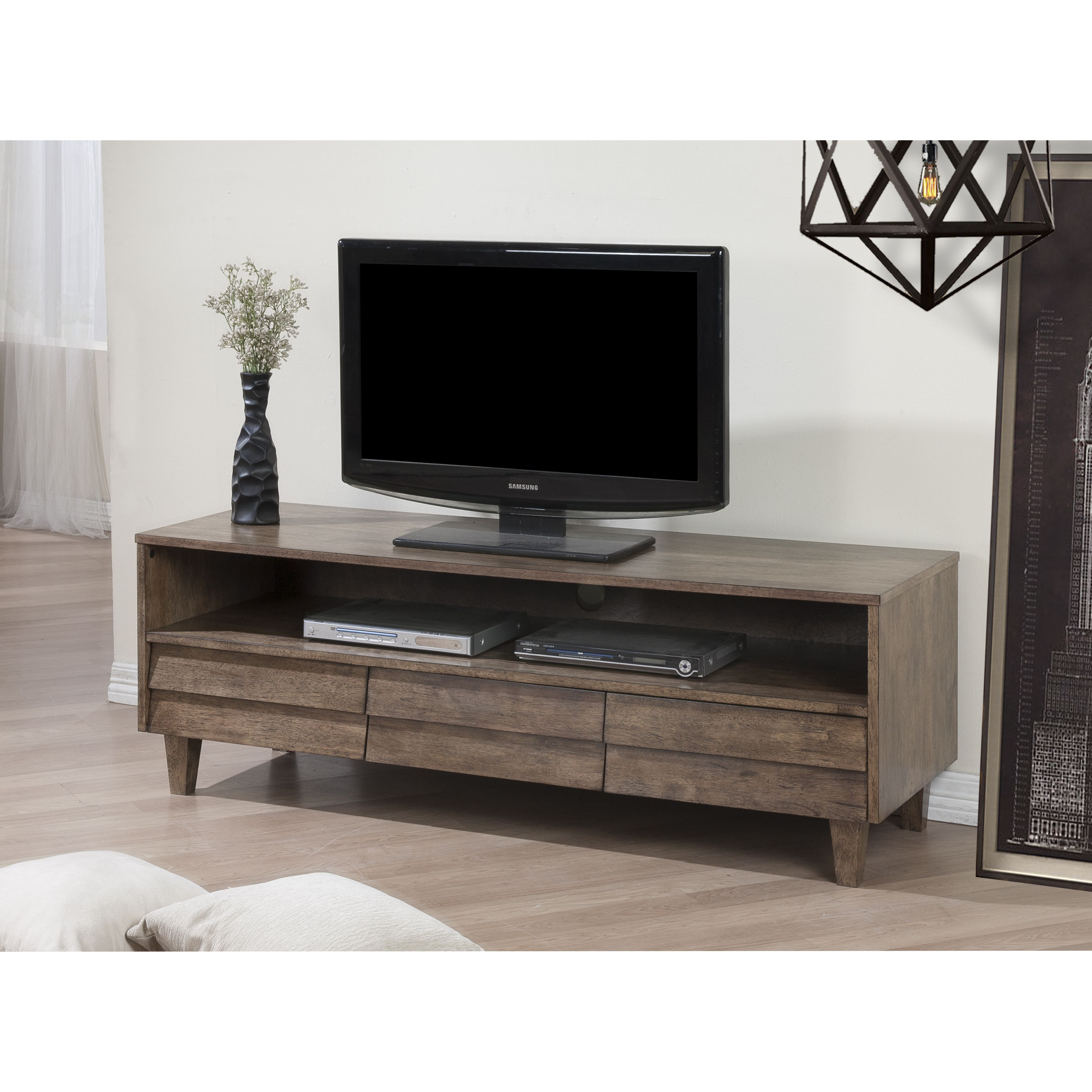 venetian 3 drawer entertainment center overstock com shopping the best deals on entertainment centers