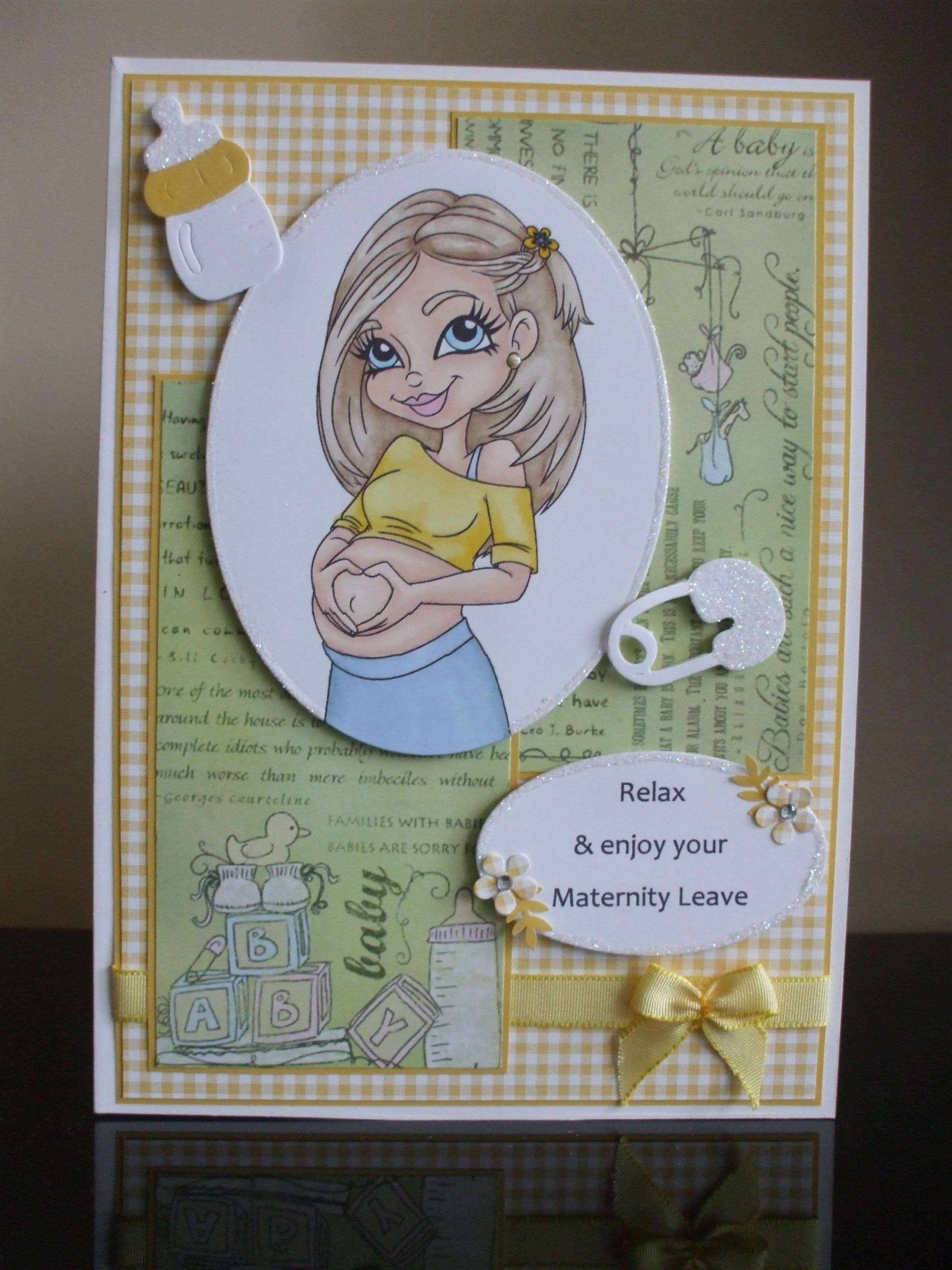 Handmade maternity leaving work card my crafting collection