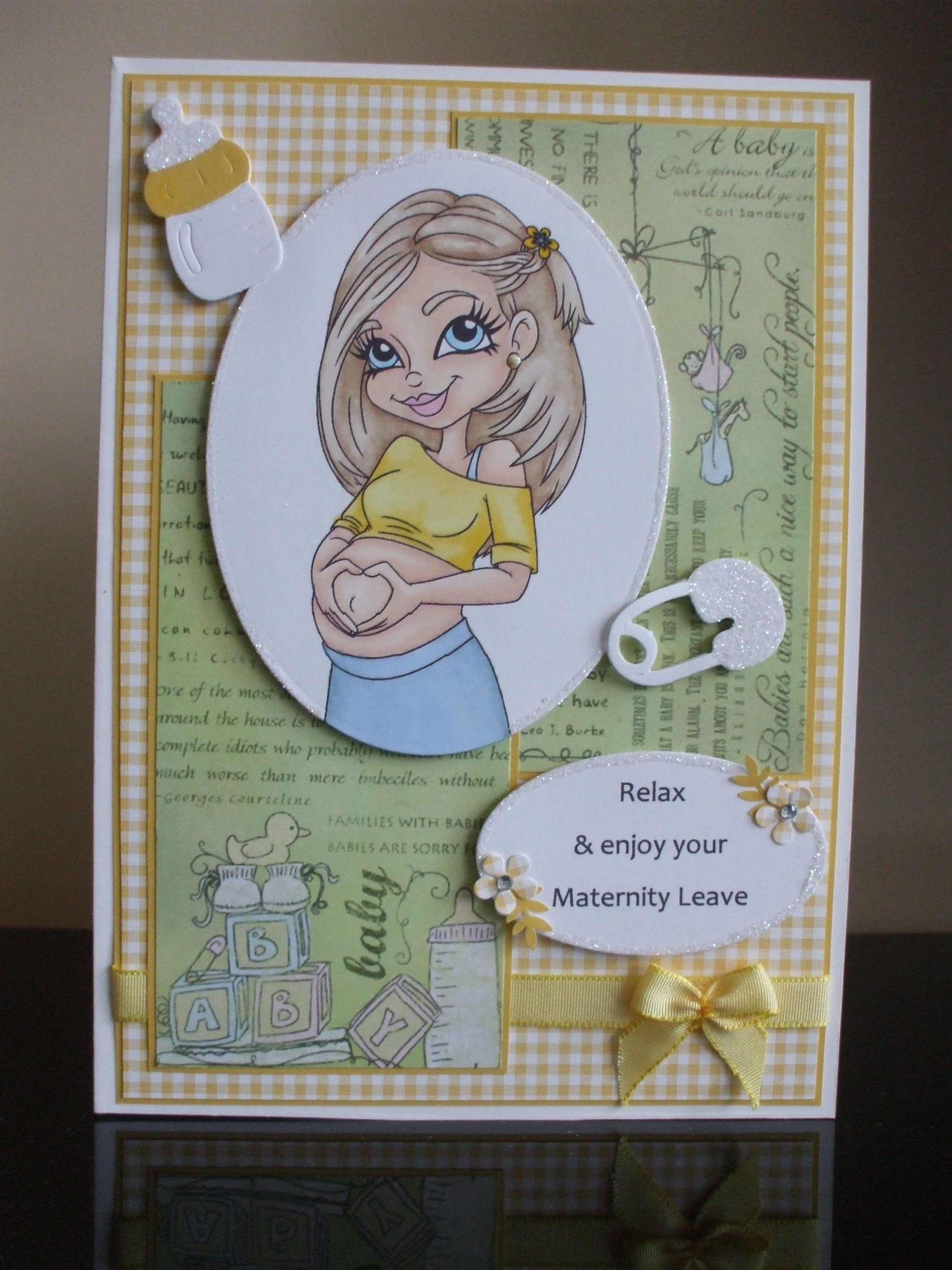 Handmade Maternity Leaving Work Card Cards Pregnancy Pinterest