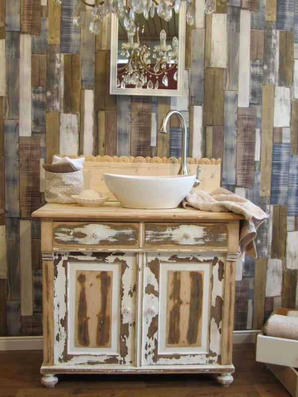 Badmöbel Landhaus Waschtisch Shabby Chic 50 Shades of brown - shabby bad