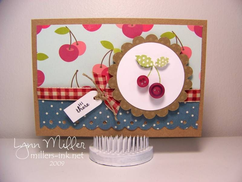 Cherry Card with buttons