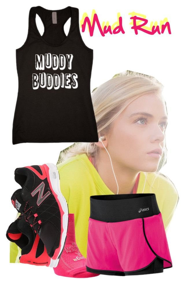 """Finally found some workout buddies!"" by janeaustin13 ❤ liked on Polyvore featuring Balega, New Balance and Asics"