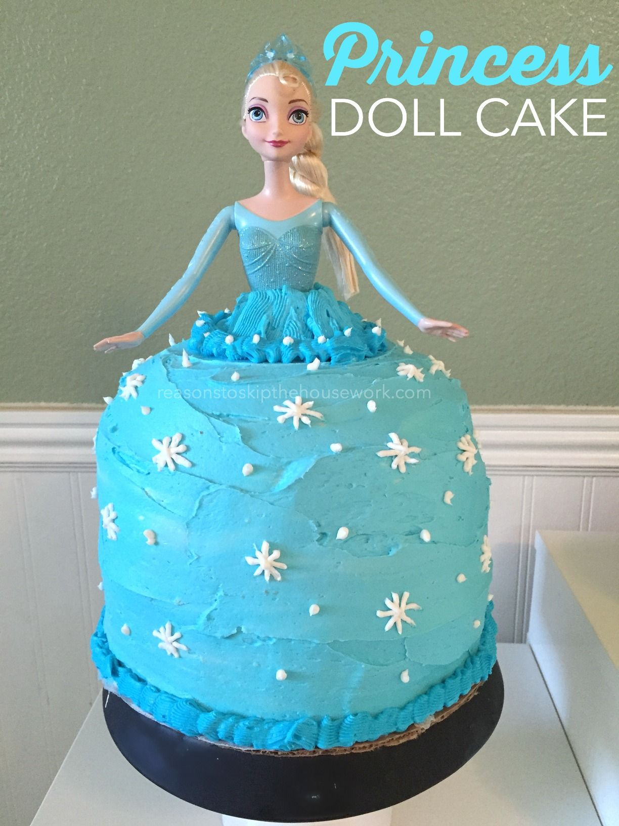 How To Make A Princess Doll Cake And Easy Process That Just Takes