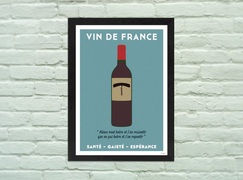Poster A4 : VIN DE FRANCE santé gaieté espérance gallery by ROMK ...
