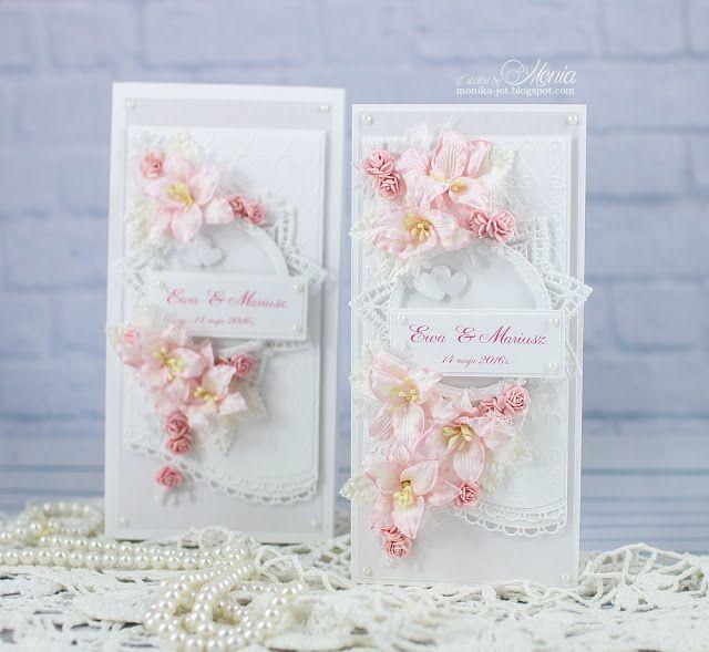 Dziś delikatny ślubny komplet z bukietami kwiatów z Wild Orchid Crafts.        Użyłam ślicznych bladoróżowych lilii, dodałam pasujące różycz...