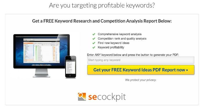 Optin For Get A Free Keyword Research And Competition Analysis