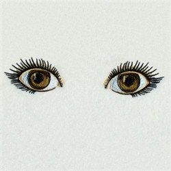 Realistic Eyes Embroidery Design #realisticeye