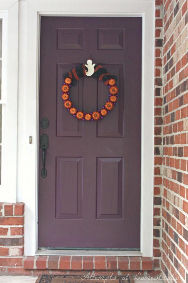 What Color To Paint My Front Door plum front door | modern masters front door paint in color playful