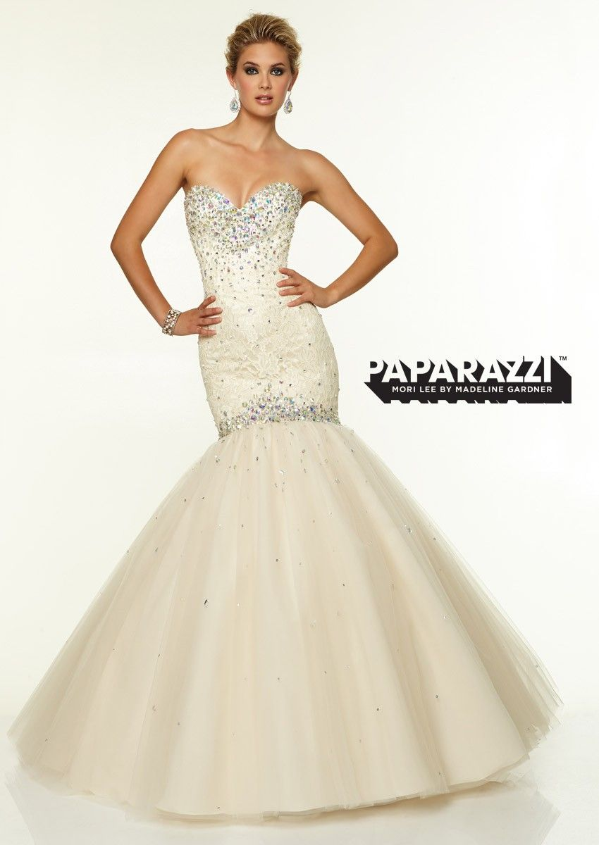 The mori lee paparazzi prom dress is a sophisticated and