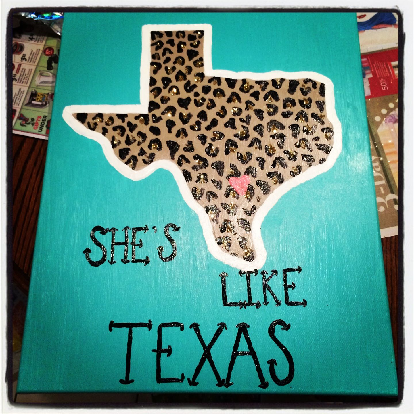 Diy Shes Like Texas Painted Canvas