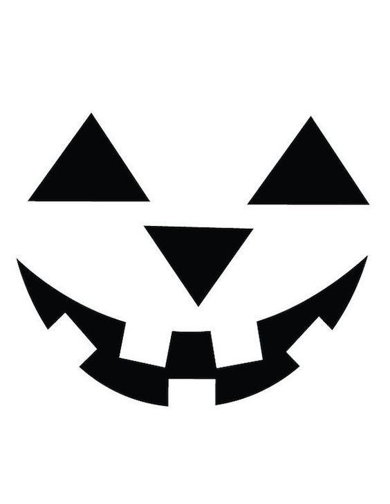 Halloween pumpkin face template (564×729) | Kids craft - autumn ...