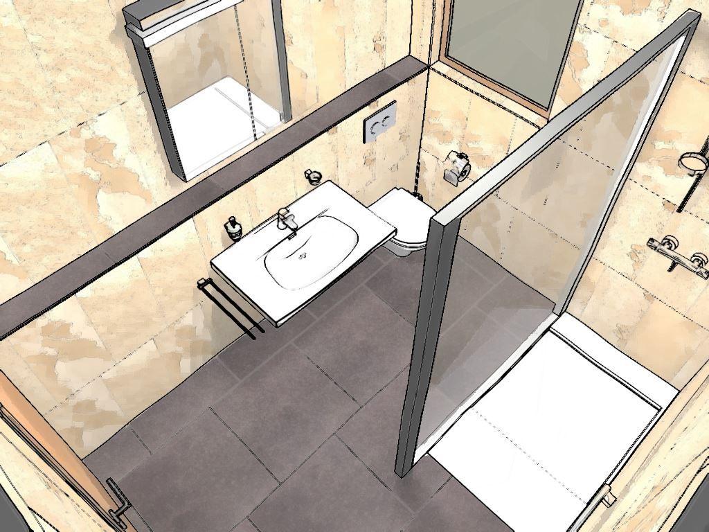 Kleine Badezimmer Mit Dusche ...