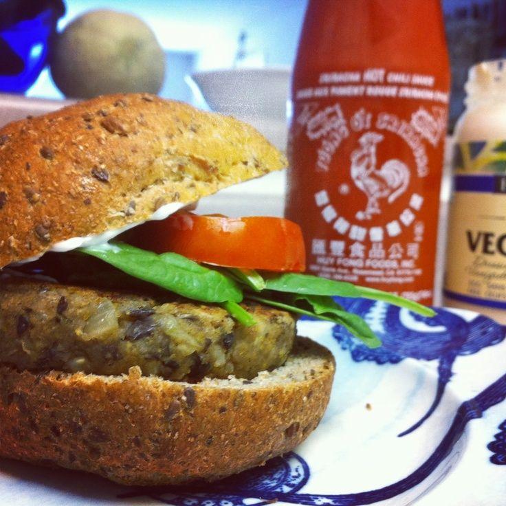 Kris Carr's black bean burger is a hearty, moist, flavourful success!.