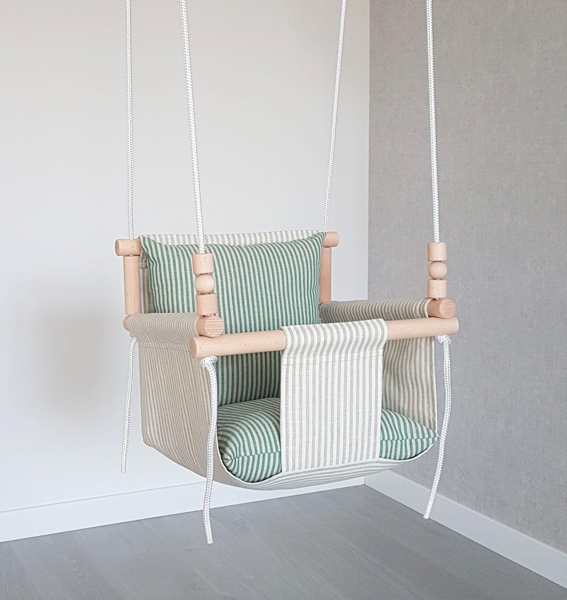 Komfortables Design natürliche Leinen Baby Schaukel *** Schiffe schnell *** Kleinkind Schaukel / Leinen Schaukel / Indoor-Schaukel / erste Geburtstagsgeschenk / Holzschaukeln   – #Baby swing