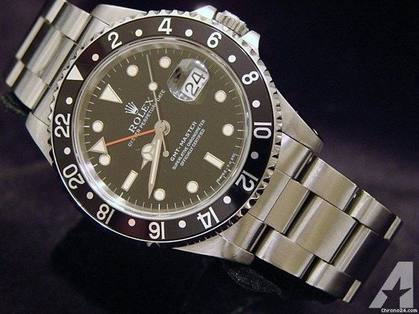 Rolex Stainless Steel Gmt-master Date Watch In Box