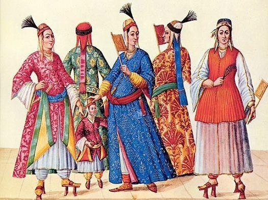 Ottoman-style fabric patterns
