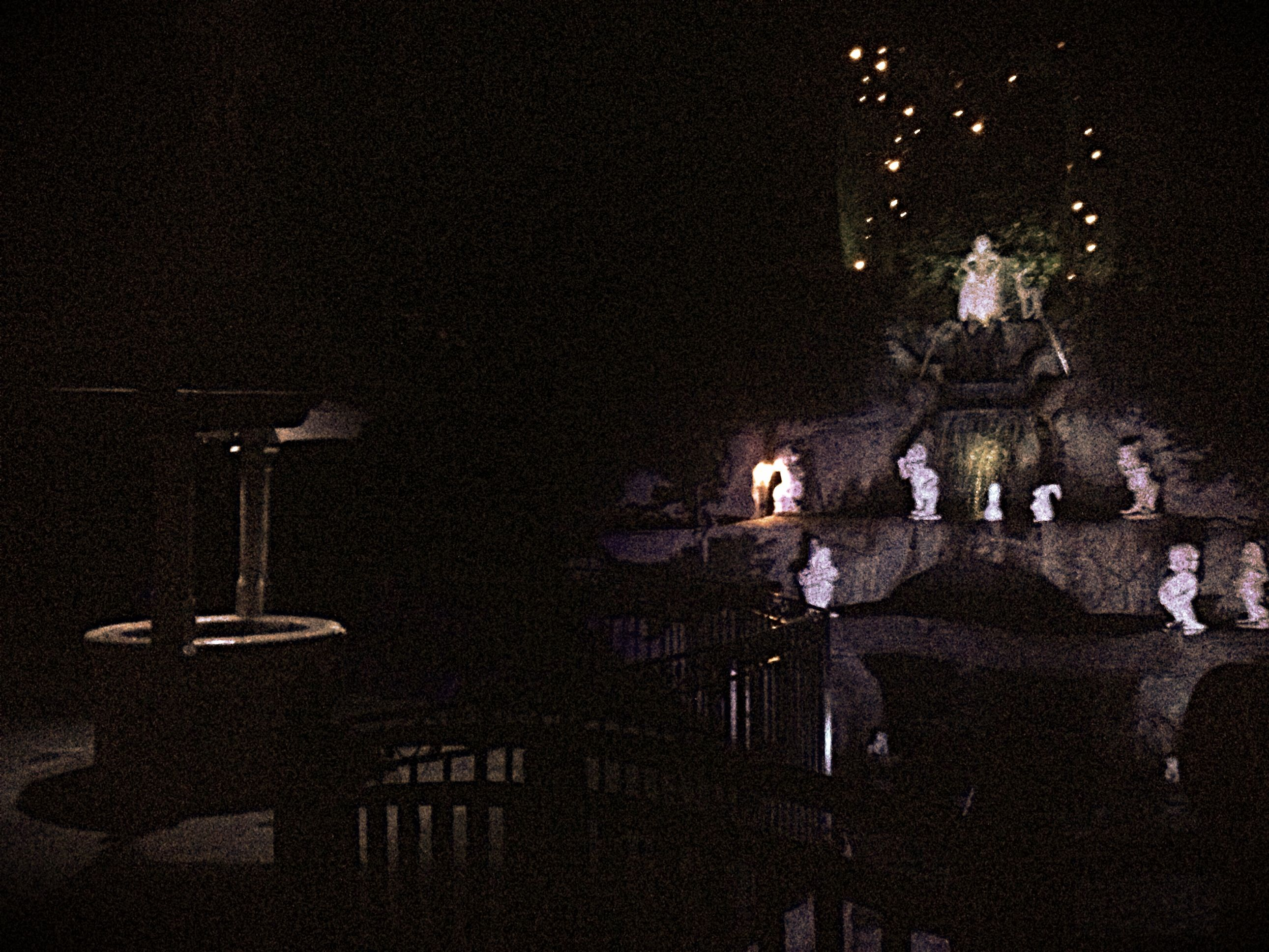 Snow whites wishing well in the dark