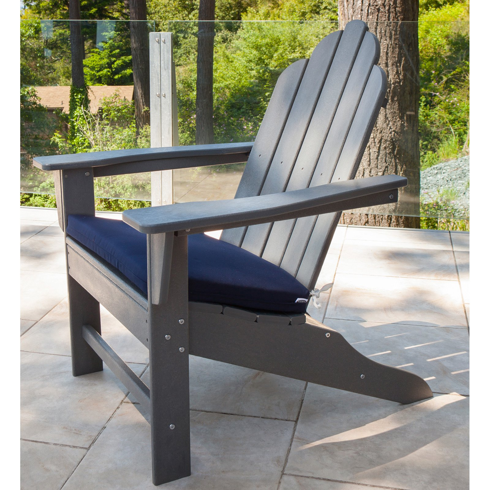 Polywood Long Island Recycled Plastic Adirondack Chair Blue Outdoor Furniture Adirondack Chairs Uk Outdoor Furniture Covers