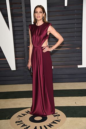Michelle Monaghan chose marsala with this glam Roksanda dress.   Get inspired by the hottest red carpet styles of the season here: http://www.mywedding.com/articles/aisle-style-favorite-red-carpet-looks/