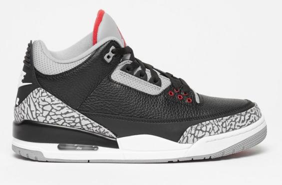 Nike Air Jordan 3 Ciment Noir 2001 Toyota