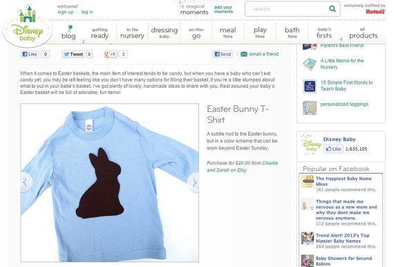 As SEEN on DISNEY BABY Chocolate Easter Bunny by charlieandsarah