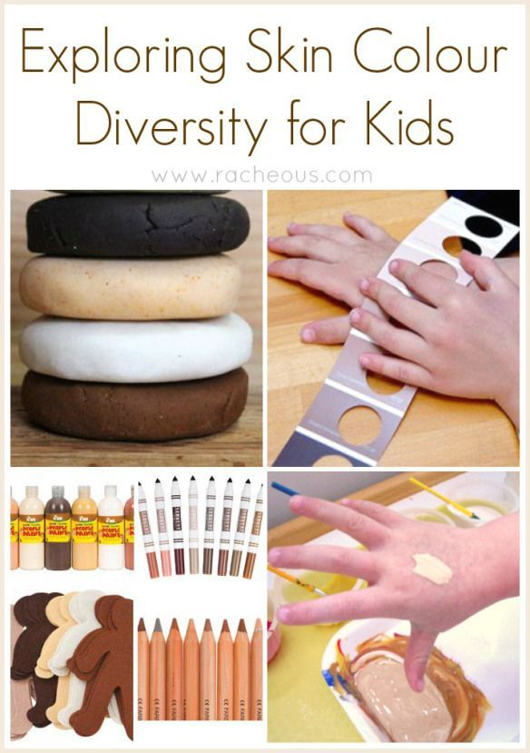 Exploring Skin Colour Diversity for Kids using spices to create different colours of playdough