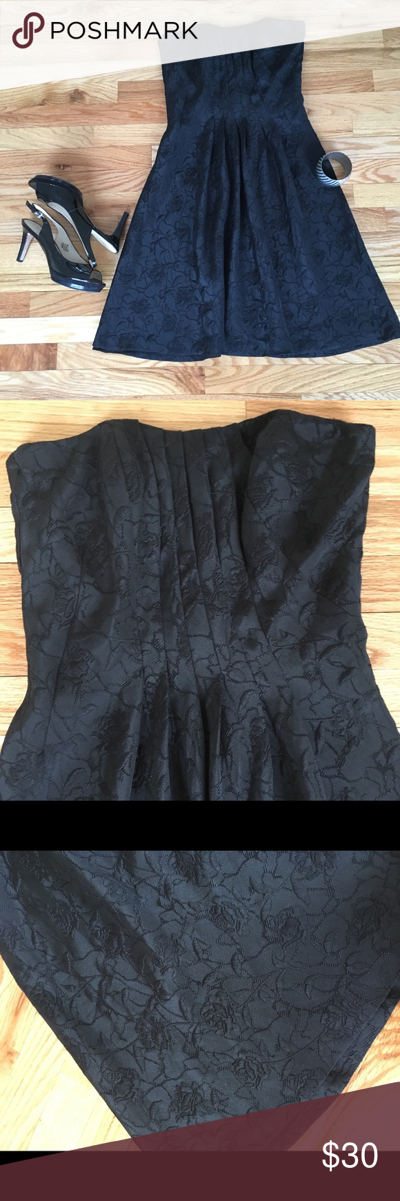44626f00a1c968 White House Black Market Black Strapless Dress Perfect little black dress!  This White House Black Market dress is just the thing for your next special  ...