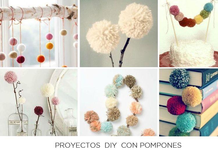 10 Trabajos manuales para hacer con pompones