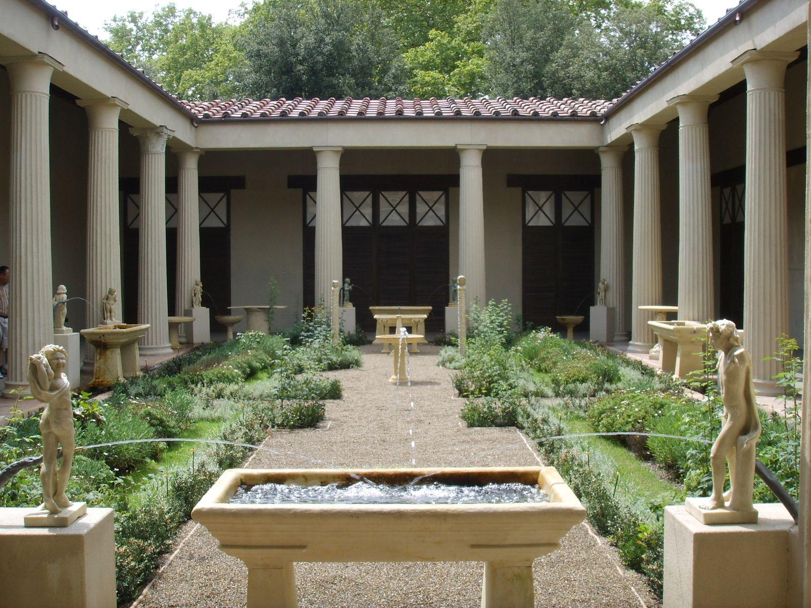 Reconstruccion Del Jardin Romano De La Casa De Los Vettii