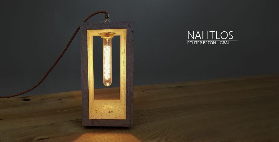 Beton Lampe, Beton Leuchte, Lampe, Leuchte, Wohnzimmer Lampe, Beton