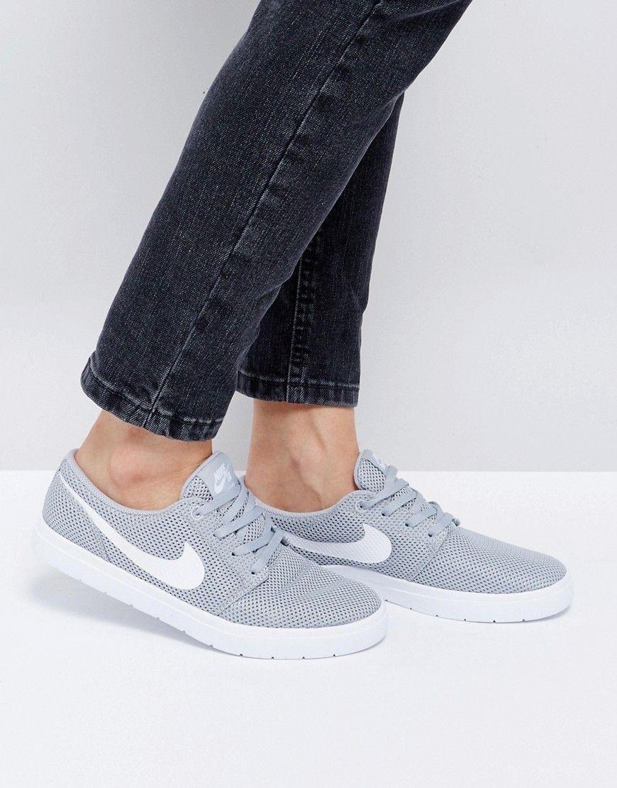 df4abcac260 Buy it now. Nike SB Portmore Ii Ultralight Trainers In Wolf Grey ...