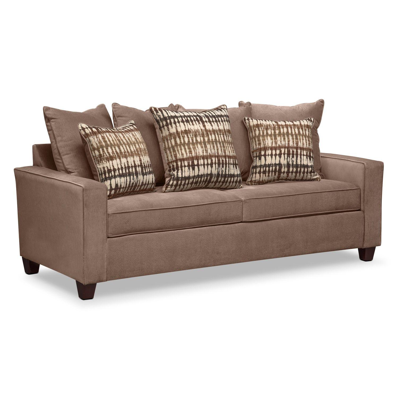 Tampa Hazelnut Futon With Mattress 399 99 Value City Furniture