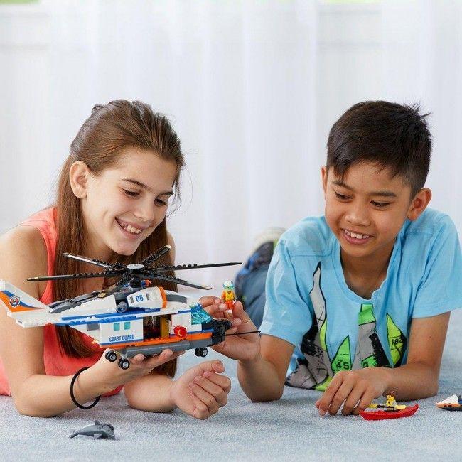 Lego : City L'hélicoptère de secours 6-12 - Castello   Jeux et Jouets