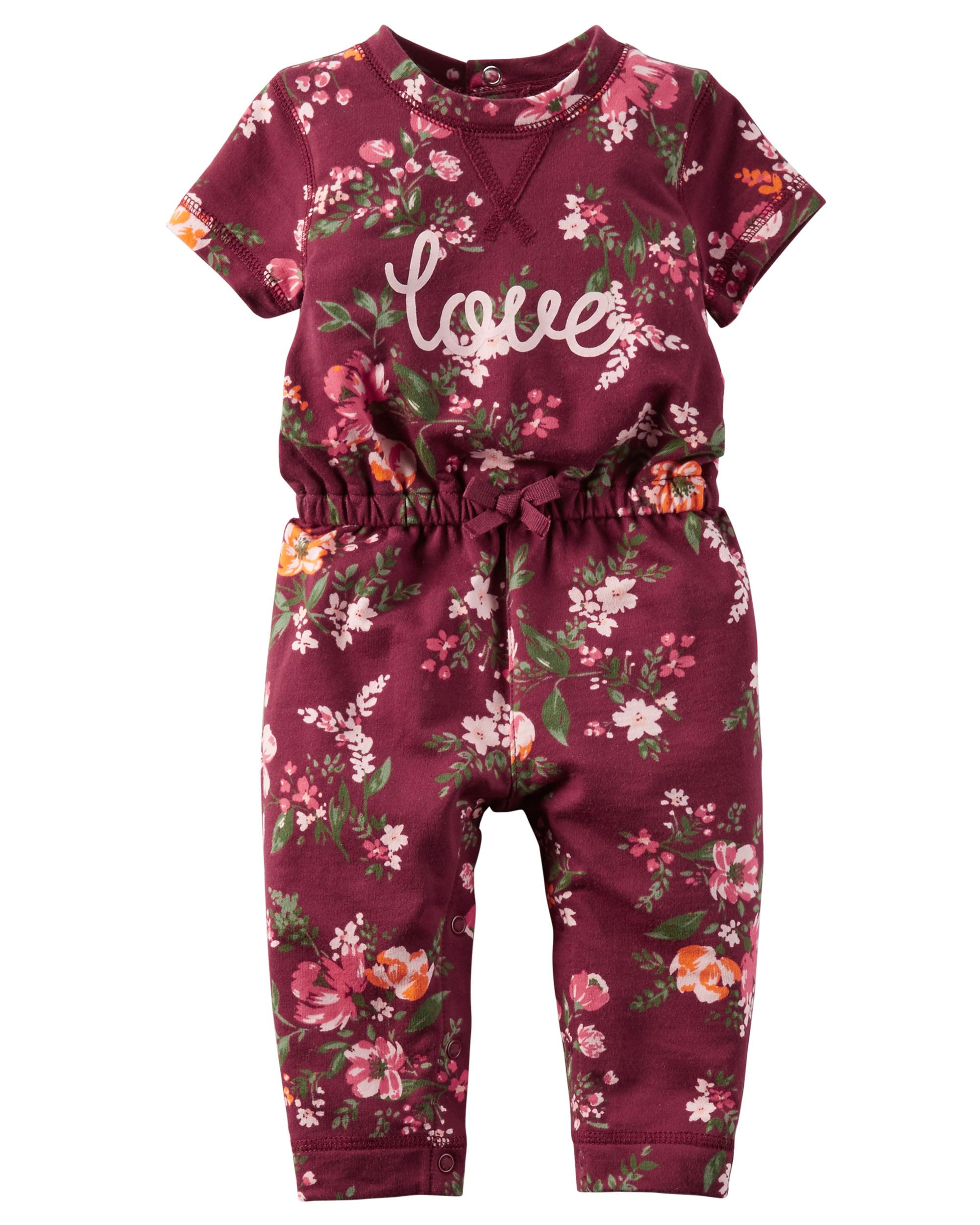 a6c874f41 In an allover floral print with a sweet slogan