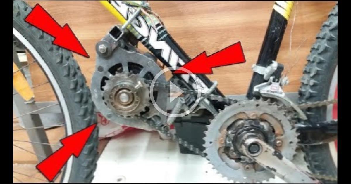 Homemade Electric Bike With The Alternator As A Motor Bldc Electric Bike Diy Electric Bike Biking Diy