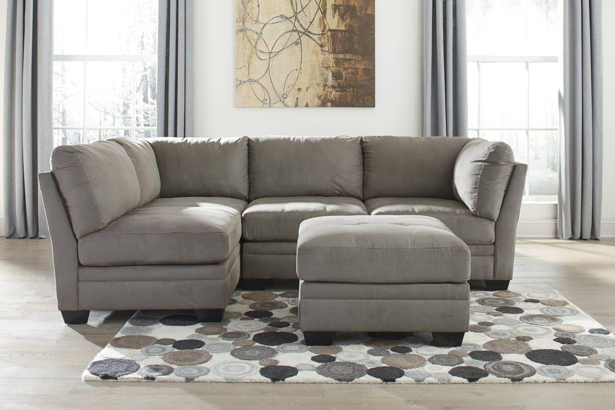 Iago contemporary cobblestone mocha fabric living room set living