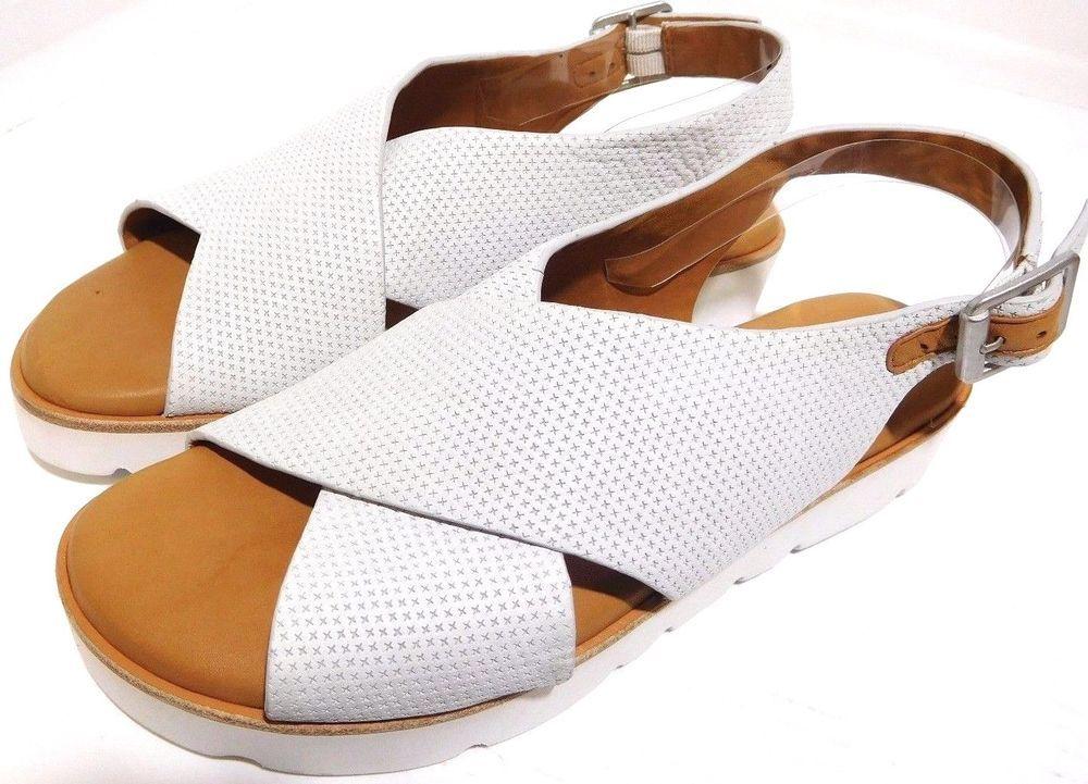Gentle Souls Kiki Platform Sandals Soft Leather Us Size 6m White New Limited Gentlesoulsbykennethcole P Platform Sandals Gentle Souls By Kenneth Cole Leather