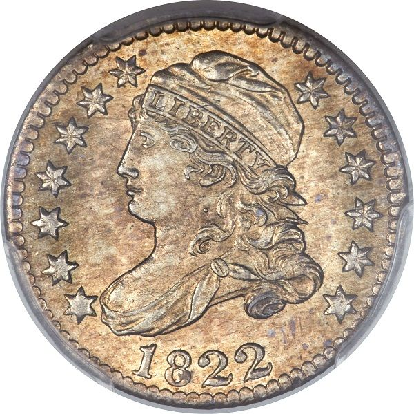 1822 10C PCGS MS64  http://www.collectorscorner.com/Products/Item.aspx?id=22589817  #CappedBustDime #CoinForSale #Online #Collectible #Marketplace #Coin #Collector #Numismatic #Dime #RareCoin #PCGS #MintState #WowFactor #Amazing