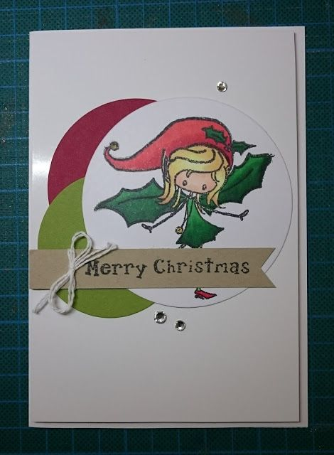 Christmas card, christmas fairy, holly dress, green, red, white - christmas card layout