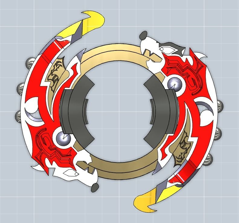 beyblade attack ring driger gt by kuny808 3d print models