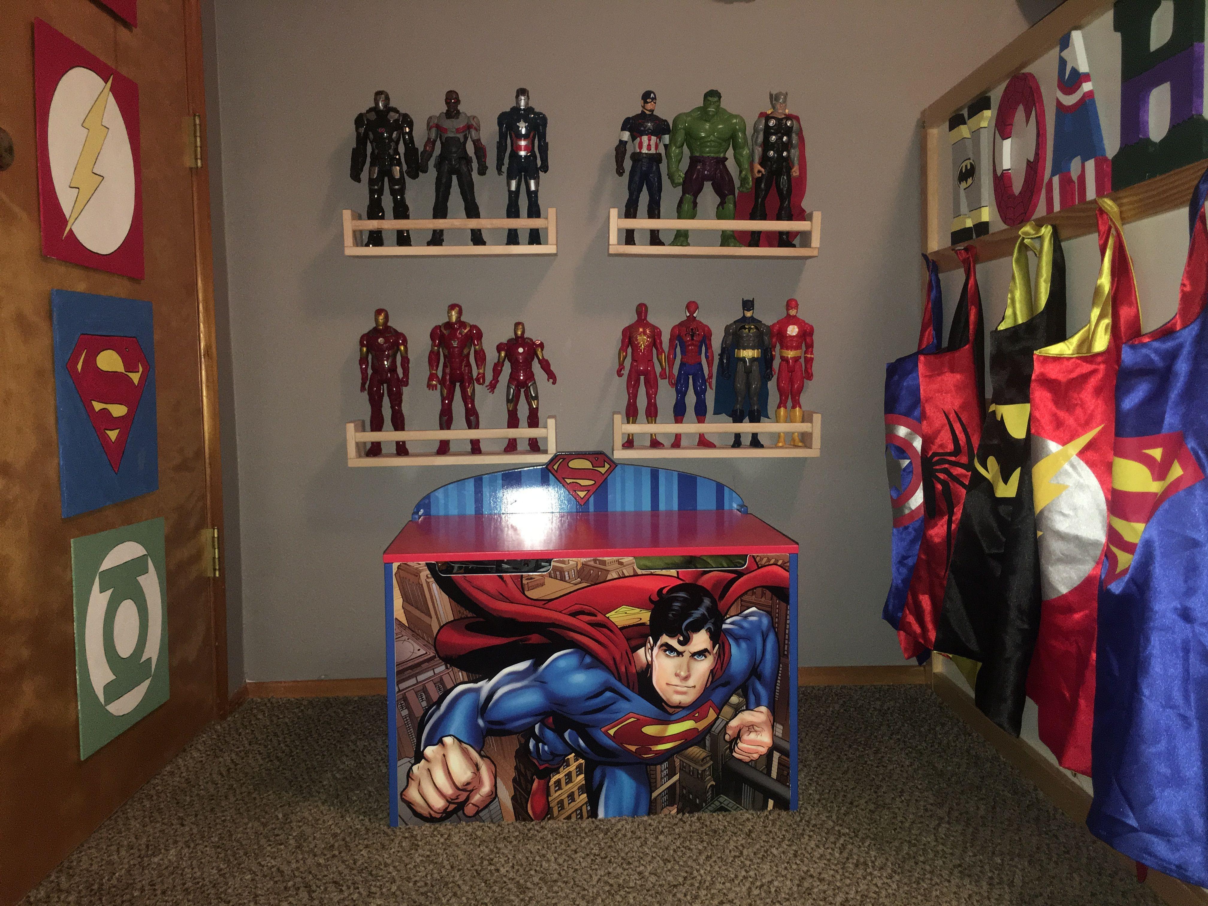 Superhero Toddler Boy Bedroom Batman Superman Flash Spider