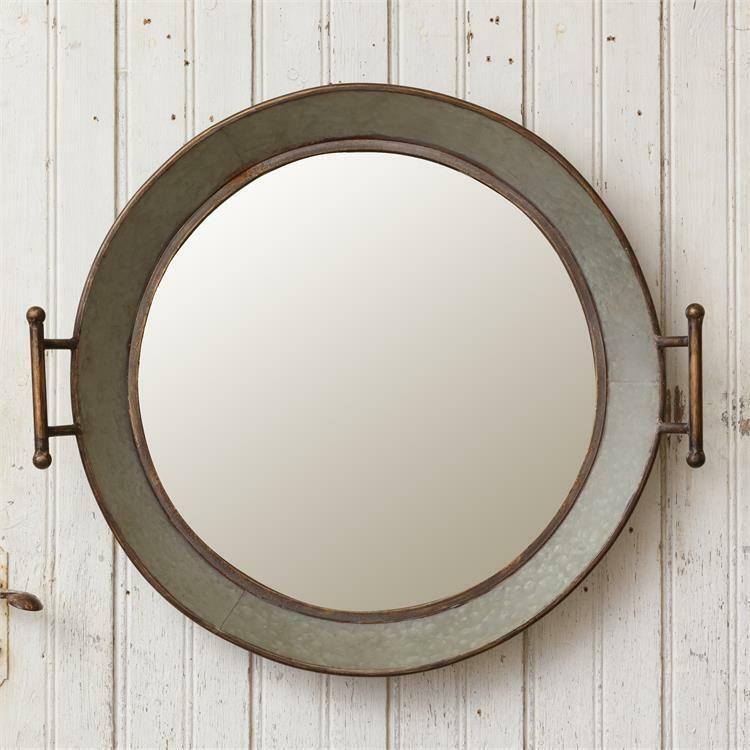 New Rustic Farmhouse Metal Galvanized Round Wash Tub Mirror Wall Hanging Home Garden Home Decor Mirrors Ebay Wash Tubs