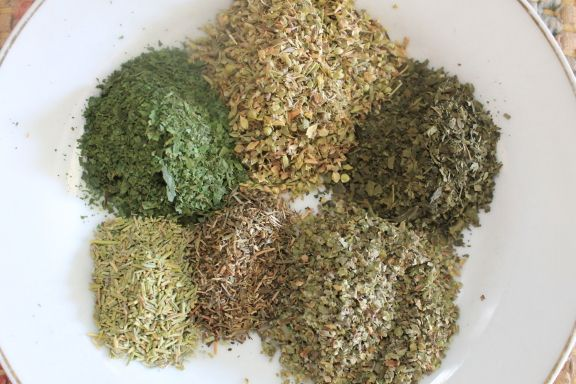 My freshly dried herbs combined will make my own Italian Seasoning blend