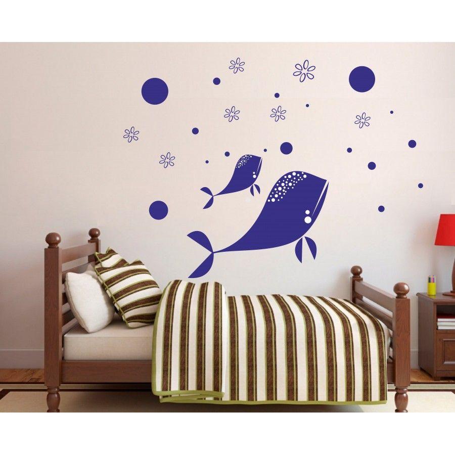 Faszinierend Wandtattoos Babyzimmer Ideen Von Wandtattoo Kinderzimmer | Familie Der Wale Nr