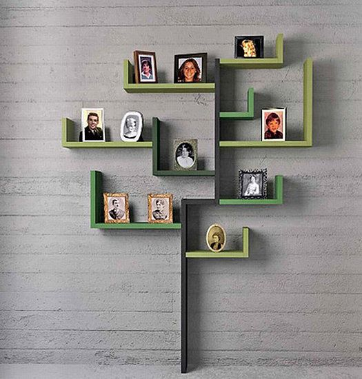 Another cool idea to display family tree through photos, but without having to paint the wall. #genealogy #familyhistory #familytree