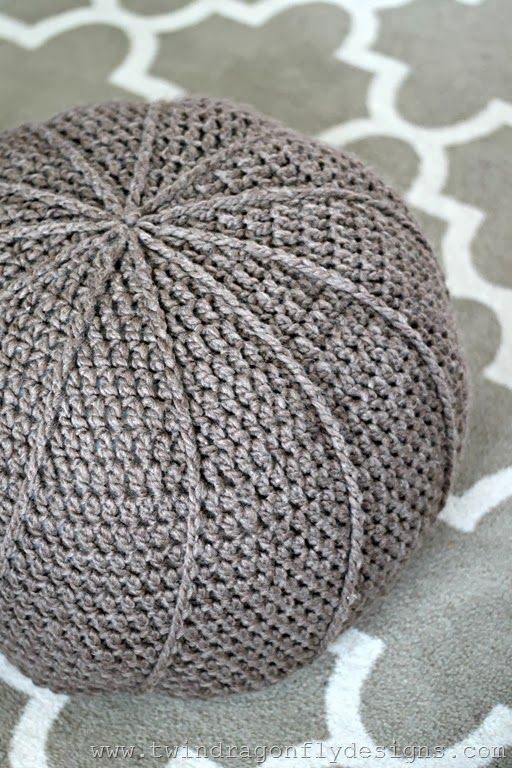 Free Crochet Floor Pouf Pattern | Häkeln, Häckeln und Bodenkissen
