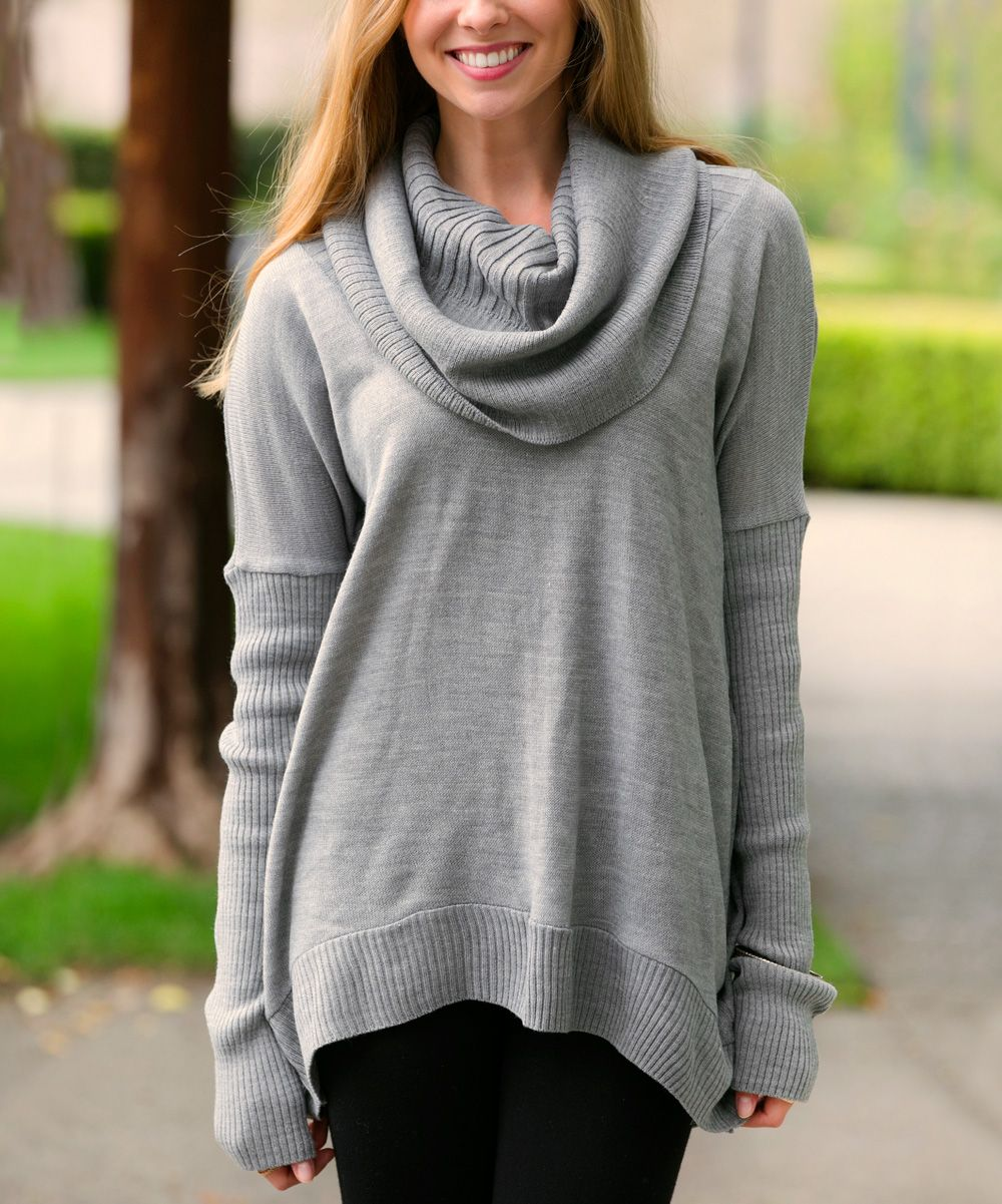 cute cowl neck sweater ! | casual | Pinterest | Cowls, Gray and ...