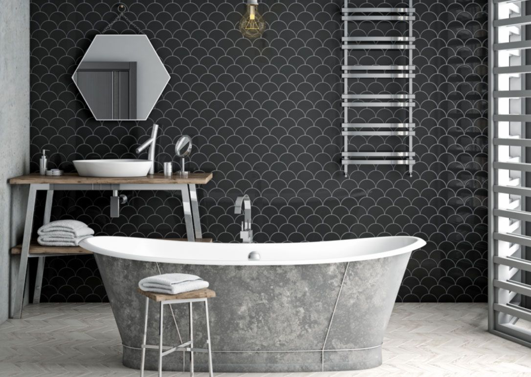 N C Tiles And Bathrooms Tile Bathroom Trendy Bathroom Black Bathroom