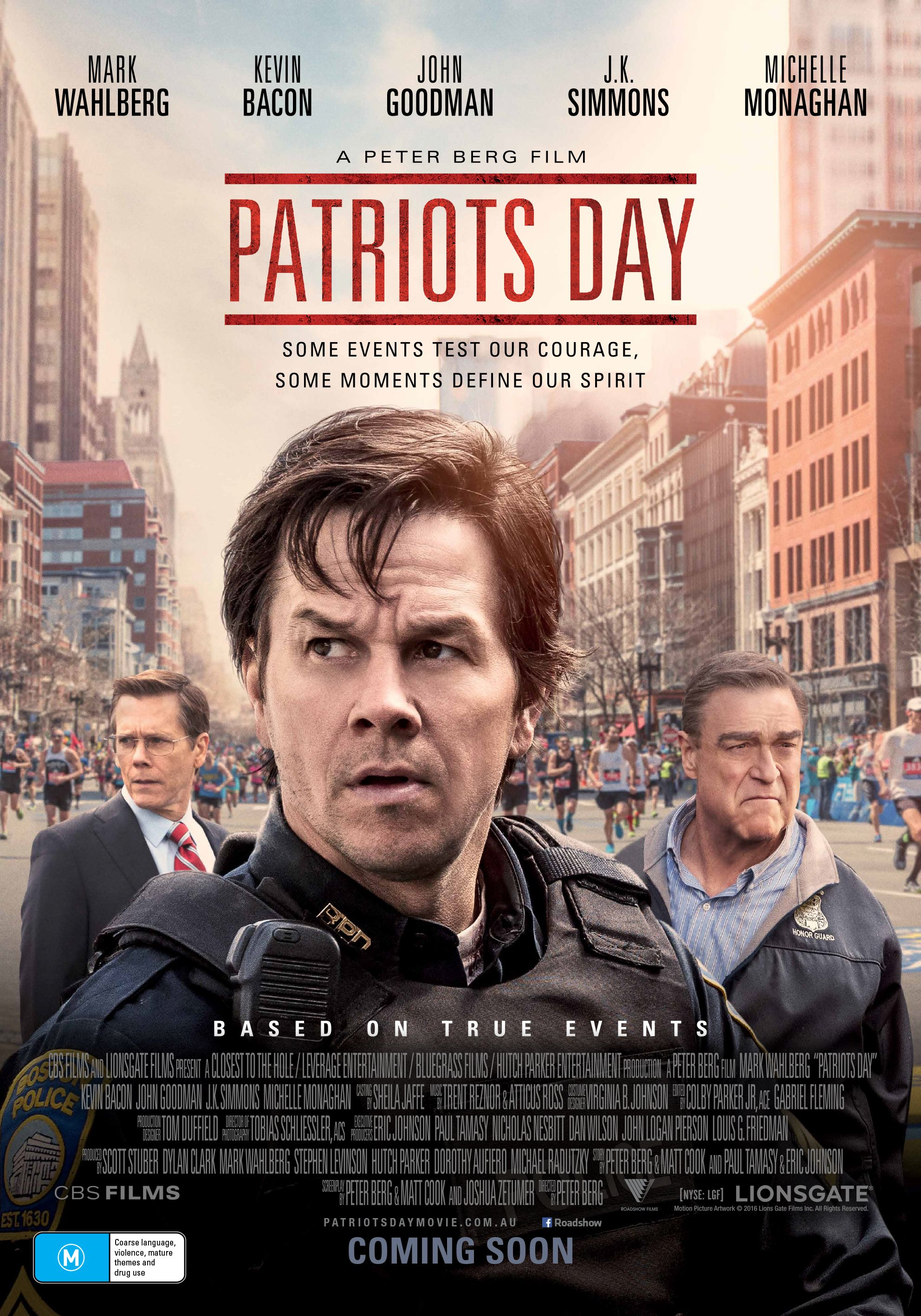 Patriots Day Is A Tense Horrific And Yet Inspiring Film Set Against The Backdrop Of One Of The Most Terrible Events To Patriots Day Movie Posters Music Book