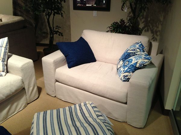 White Upholstered Chair By Stanton Furniture. // Www.KeyHomeFurnishings.com  In Portland
